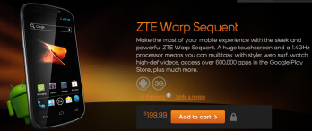 The ZTE Warp Sequent is now available from Boost Mobile