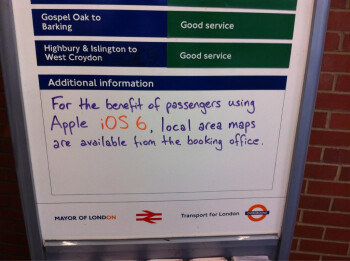 London Underground solves iOS 6 Maps woes with old-fashioned techniques