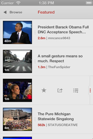 Jasmine is a beautiful YouTube app for iOS