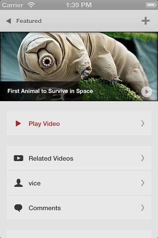 Jasmine is a beautiful YouTube app for iOS
