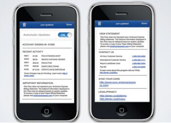 At the end of this month, Passbook support will be found for American Express (L) and Starbucks