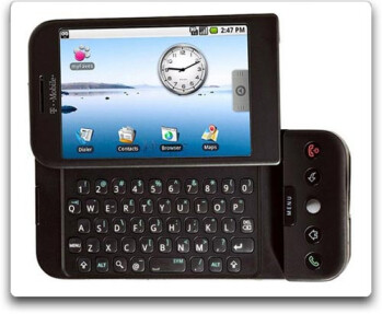 First Android handset, the T-Mobile G1