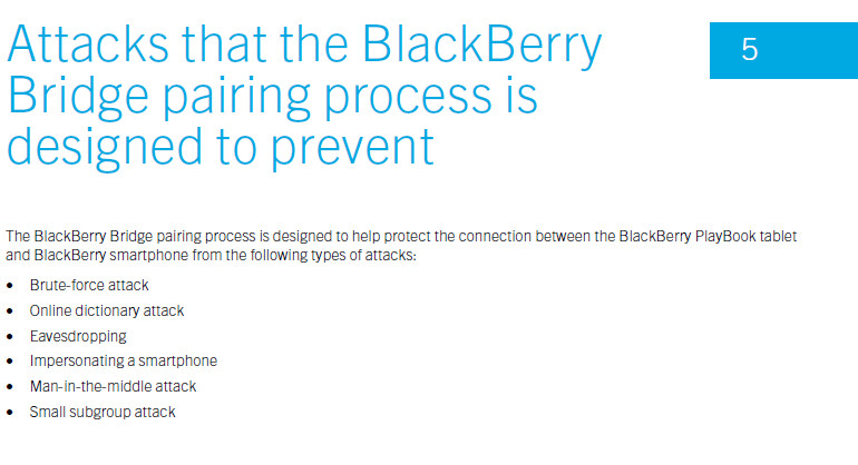 One of the pages belonging to the Security Technical Overview, dealing with the BlackBerry Bridge app 2.1 - Security Technical Overview could mean that BlackBerry PlayBook OS 2.1 and Bridge 2.1 are coming soon