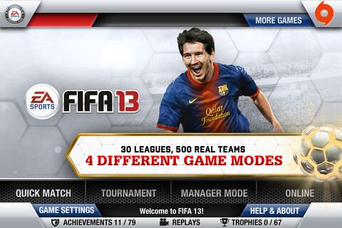 FIFA 13 for iOS images