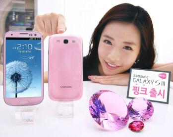 Samsung Galaxy S III in Martian Pink