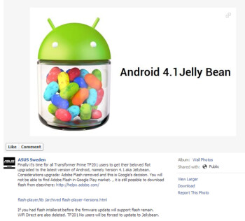 ASUS starts pushing Jelly Bean to Transformer Prime tablets...in Sweden