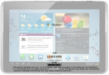 After superimposing a picture of the tablet on the diagram, it looks like the FCC welcomed the Samsung GALAXY Tab 2 (10.1)