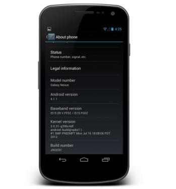 The Samsung GALAXY Nexus