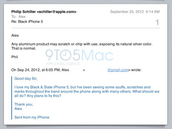 Apple's Phil Schiller allegedly responds to a fan's iPhone 5 scuffs complaint