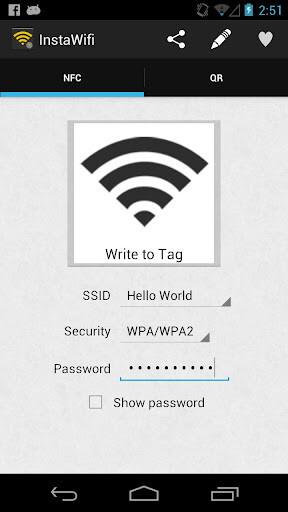 Write to NFC Tag