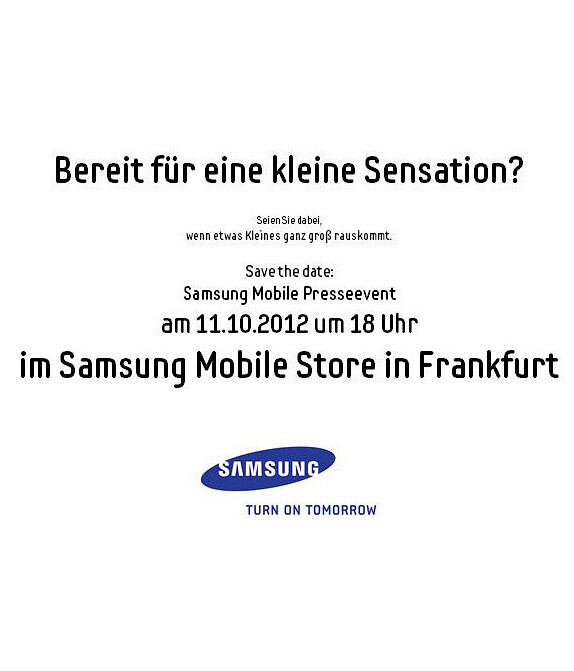Samsung to host a press event on October 11, might announce Galaxy Music smartphone