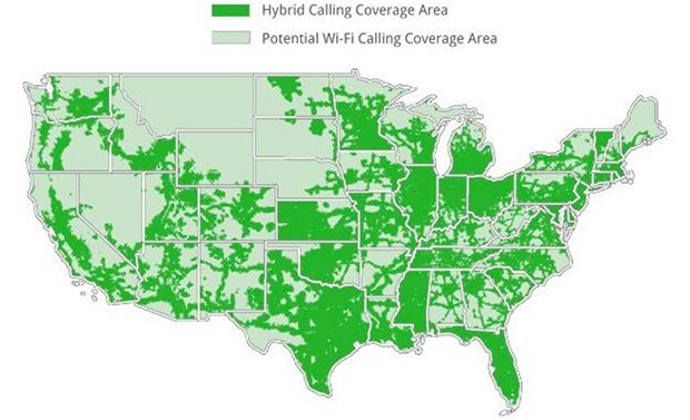 Coverage Map for the Motorola DEFY XT on Republic Wireless - Republic Wireless to bring out dual-band Motorola DEFY XT later this year to enhance coverage