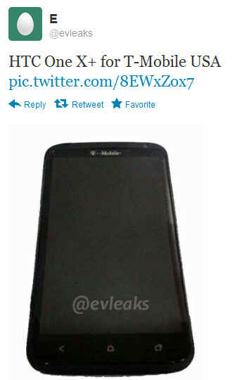 This tweet shows a leaked photo of the HTC One X+