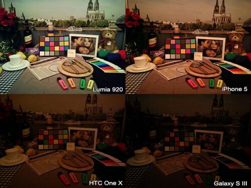 Nokia Lumia 920 vs iPhone 5 vs Galaxy S III vs HTC One X low-light comparison