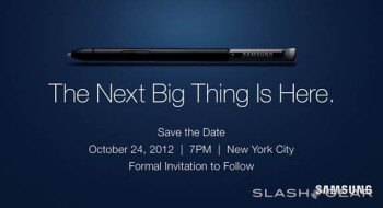 The Samsung GALAXY Note II event will take place October 24th