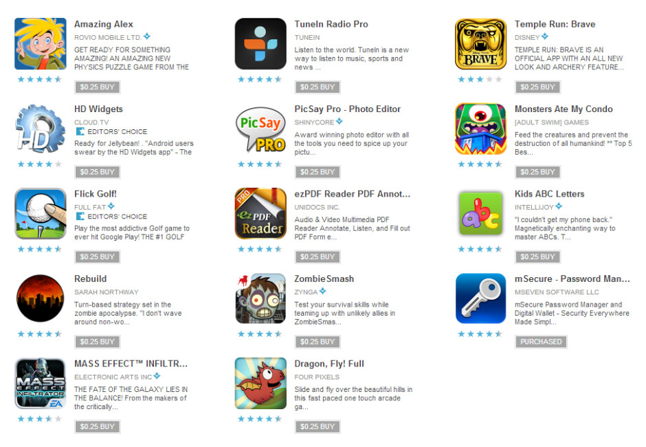 A third round of 25 cent apps hits Google Play