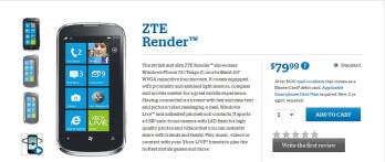ZTE Render (aka Orbit) makes its way to US Cellular with Windows Phone 7.5