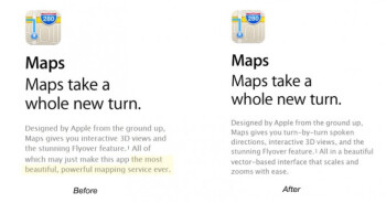 Apple Maps is no longer the most powerful mapping service according to Apple