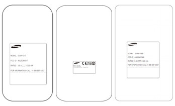 Three variants of the Samsung GALAXY Note II visited the FCC, AT&T, Verizon and T-Mobile from left to right