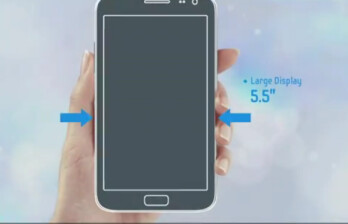 Samsung's recent video highlighted the larger screen on the sequel