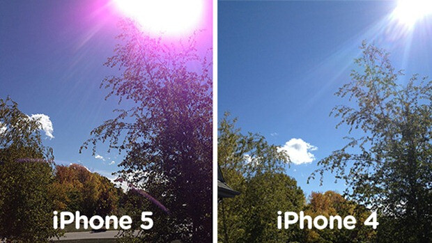 See the difference? - Apple says purple tint on Apple iPhone 5 pictures is the camera's normal behavior