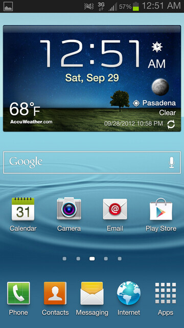 Screenshot from the Android 4.1.1 ROM for the Sprint Samsung Galaxy S III