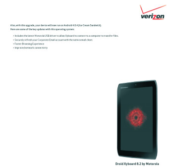 Ice Cream Sandwich officially comes to the Verizon Motorola DROID XYBOARD 8.2