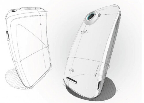 Early design sketches of the HTC One X+