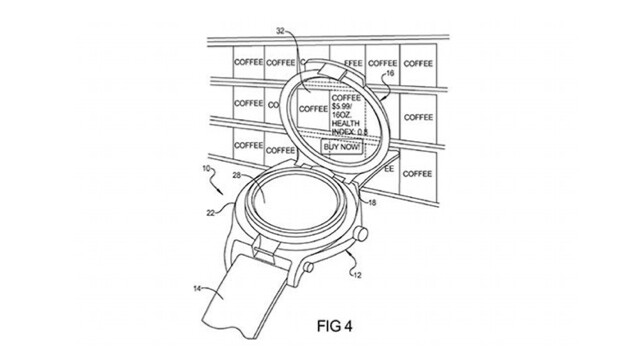 """Google's patent was granted for a smart-watch with an augmented reality reader - Google receives patent for a """"smart-watch"""" that uses augmented reality"""