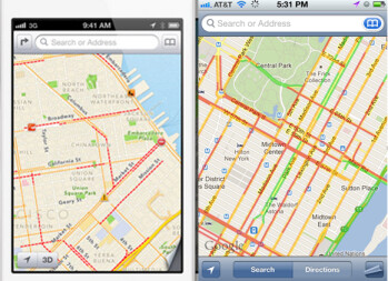 Apple Maps uses less data than Google Maps