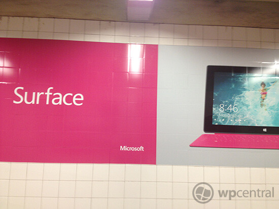 Microsoft Surface ads appear in NYC's Grand Central Station - Microsoft places ads for Surface tablet inside Grand Central Station