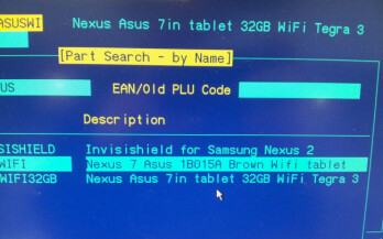 Leaked screenshot shows Samsung Nexus 2 and a 32GB Google Nexus 7