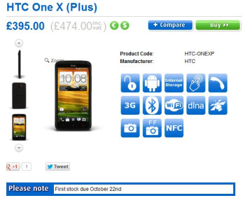 SIM-free HTC One X+ available for pre-order in UK