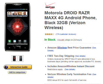 The Motorola DROID RAZR MAXX can be yours for as low as $49.99 at Amazon