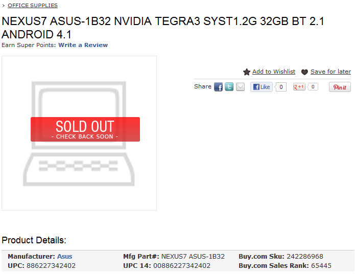 Is a 32GB Google Nexus 7 coming? - 32GB Google Nexus 7 could be real after all, more listings emerge
