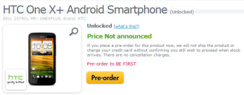 Pre-order a SIM-free HTC One X+ in the U.S.
