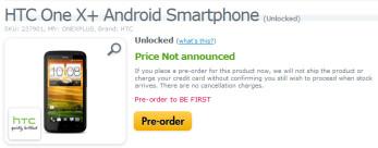 Pre-order a SIM-free HTC One X+ in the U.S.