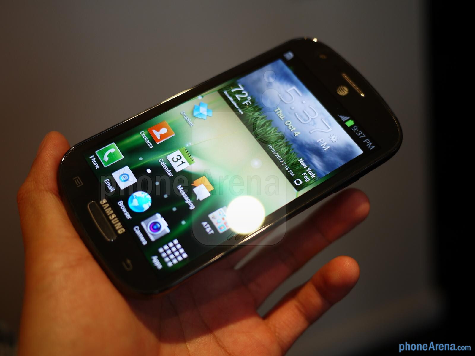 From the front, it's very similar to the Galaxy S III