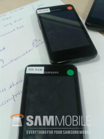Prototype handsets suggest Samsung is testing a phone with no buttons and 3GB of RAM
