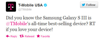 The Samsung Galaxy S III is the all-time best-seller for the carrier