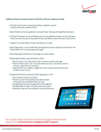 Verizon's Samsung Galaxy Tab 7.7 to be updated with Android ICS