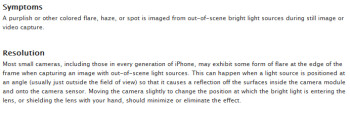 Apple officially acknowledges the purple tint problem with the camera on the Apple iPhone 5
