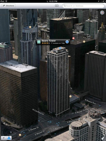 The Sears Tower is mis-labeled in Apple Maps