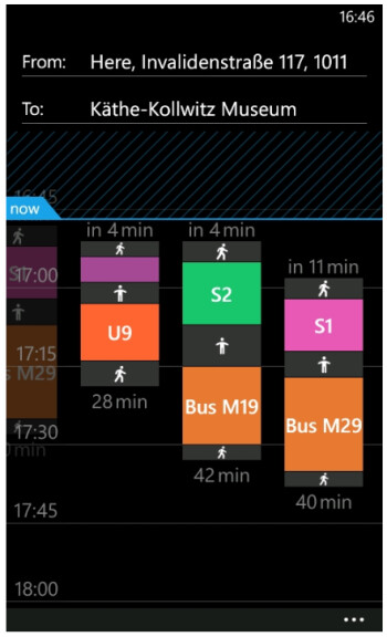 Nokia Transport 2.3 beta for Lumia phones intros color-coded transportation, nearest station departures