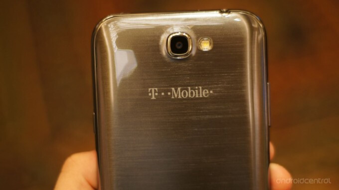 The T-Mobile variant of the Samsung GALAXY Note II, photo courtesy Android Central - T-Mobile officially outs the Samsung GALAXY Note II