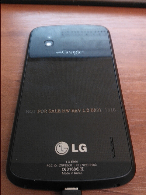 New pictures of the LG Optimus G Nexus leak, plus specs and a camera sample