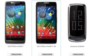 The only phones Motorola is selling in Germany