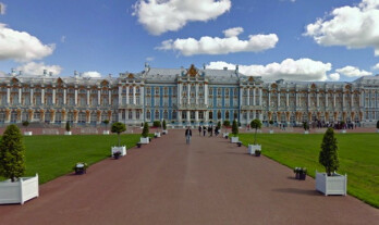 Catherine Palace near Saint Petersburg is on