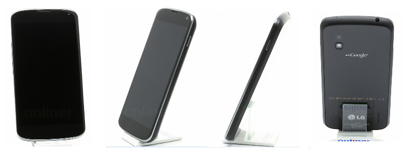 Four sides of the LG Nexus 4 - See the LG Nexus 4 in 360 degrees