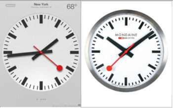 Apple agrees to sign licensing agreement with SBB for iOS 6 Swiss Railway clock design